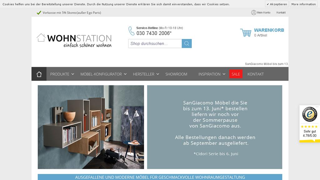 wohnstation Online-Shop