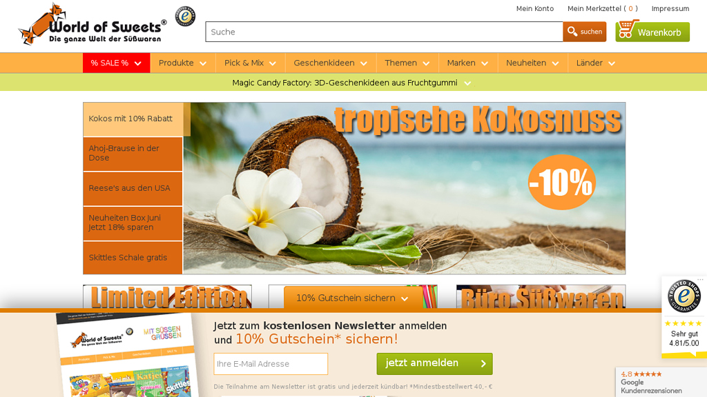 World of Sweets Online-Shop