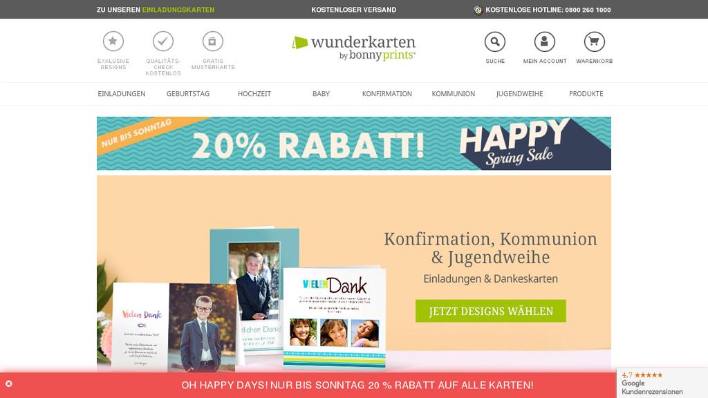 wunderkarten Online-Shop
