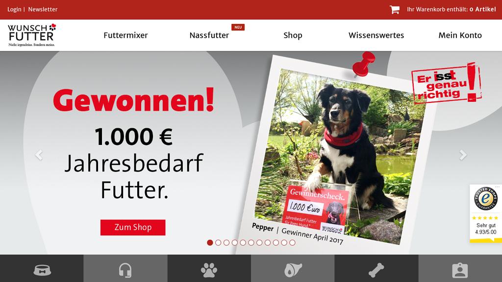 Wunschfutter Online-Shop