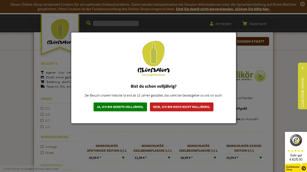 wunschlikör Online-Shop