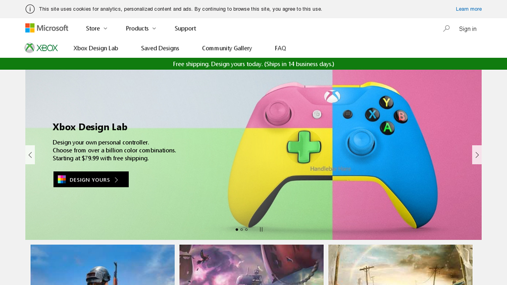 Xbox Design Lab Online-Shop