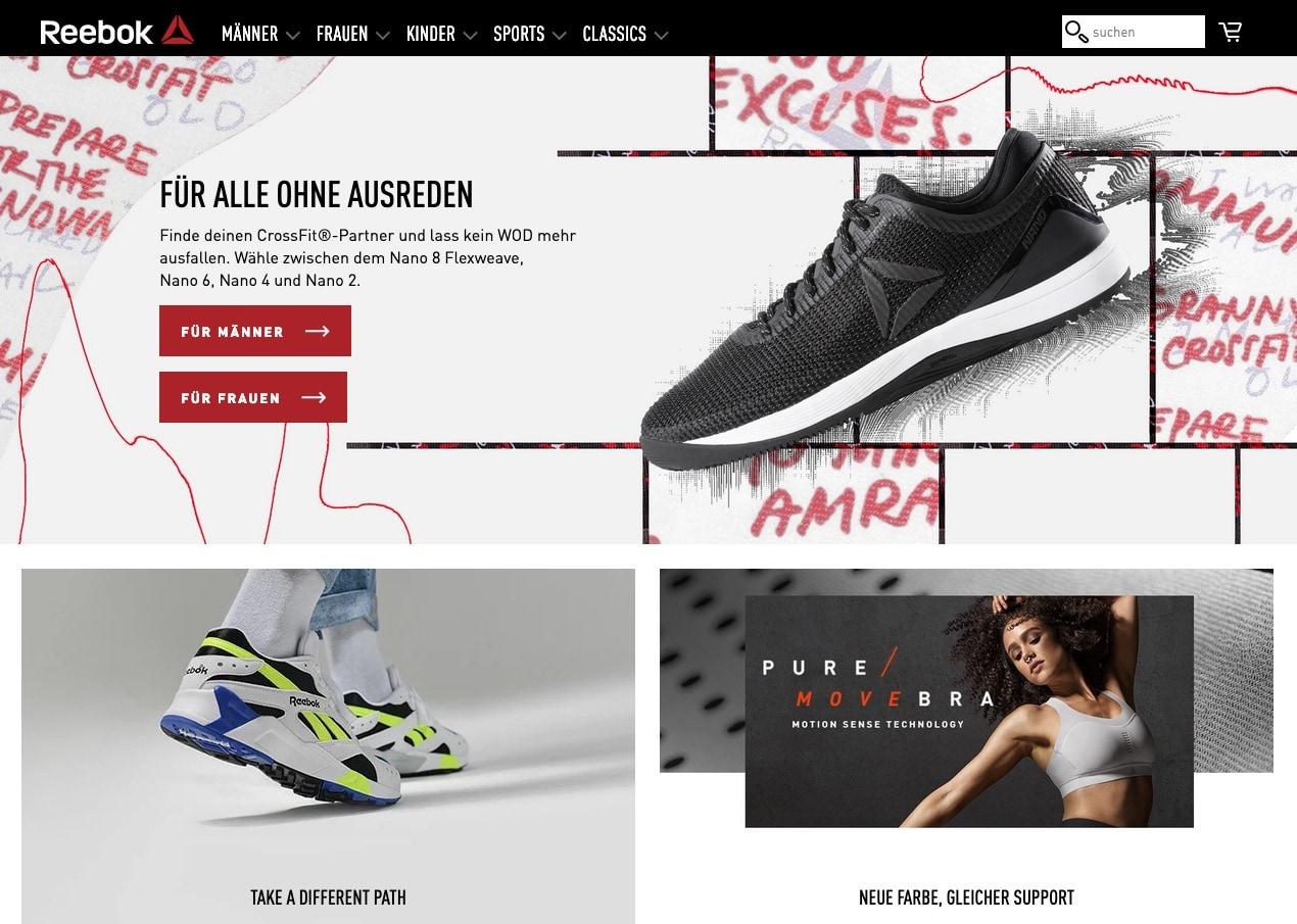 YourReebok Online-Shop