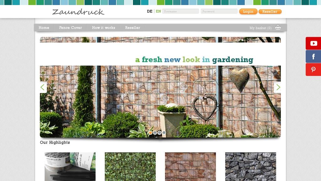 Zaundruck Online-Shop